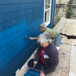 painting habitat for humanity house