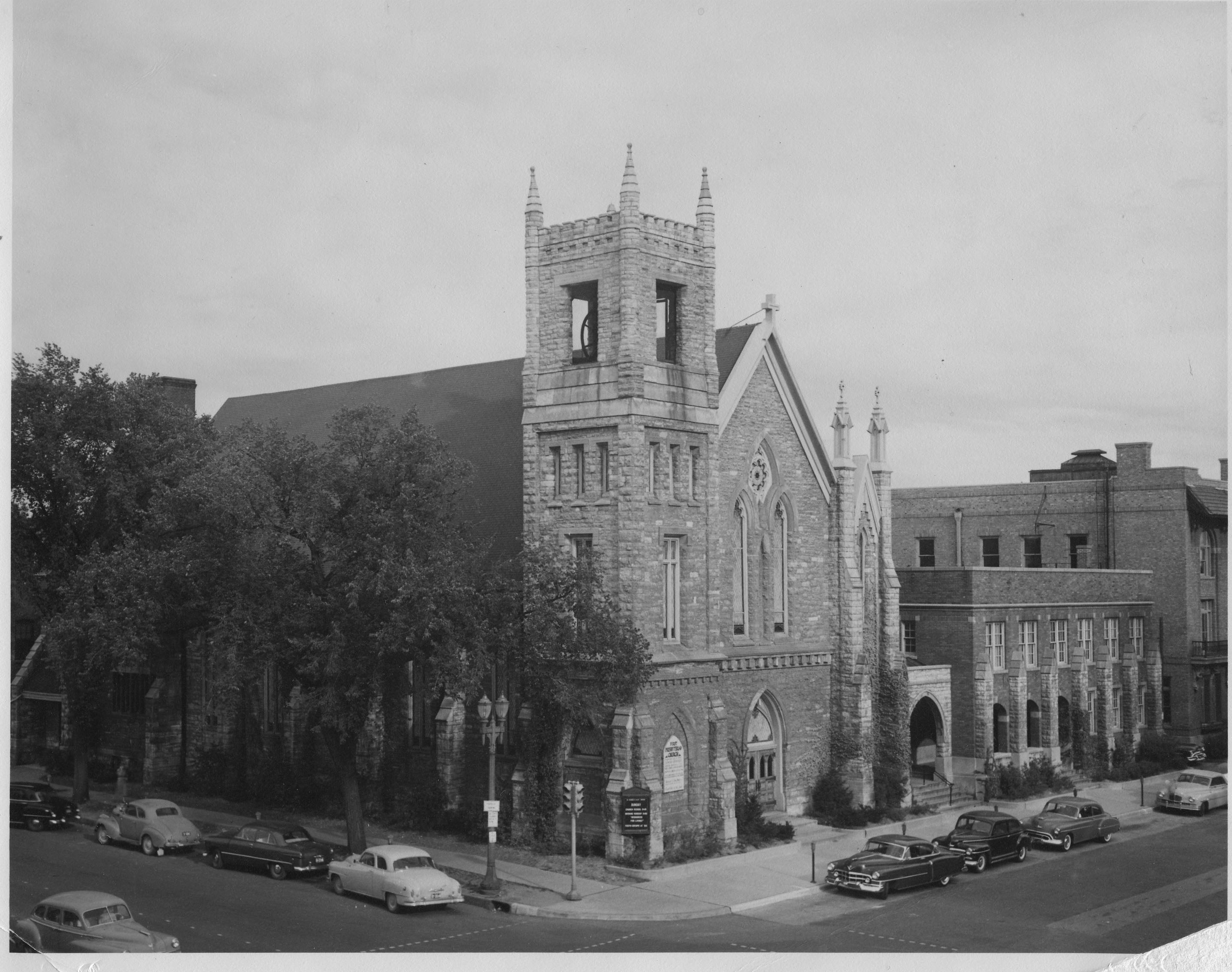 image of church in 1950