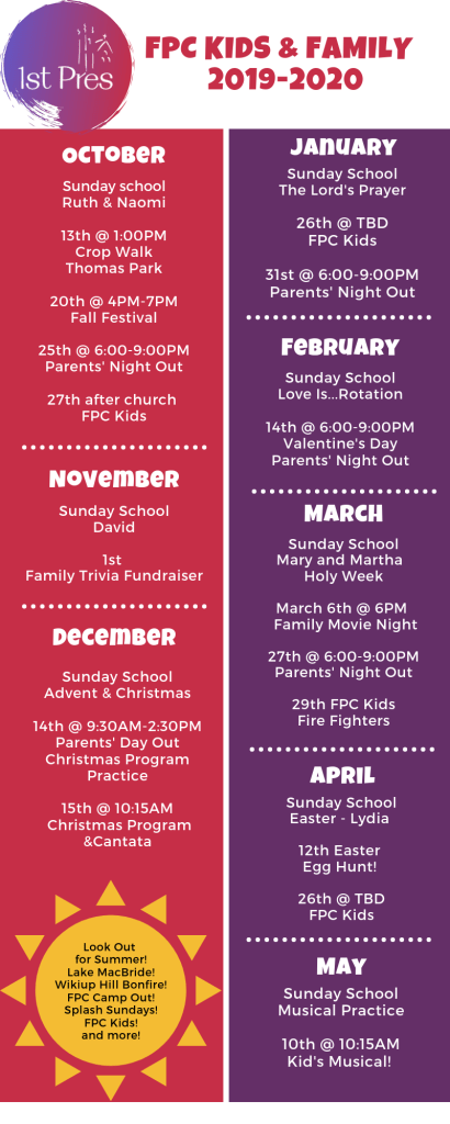 FPC Kids and Family Calendar