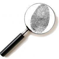 Magnifying glass & fingerprint