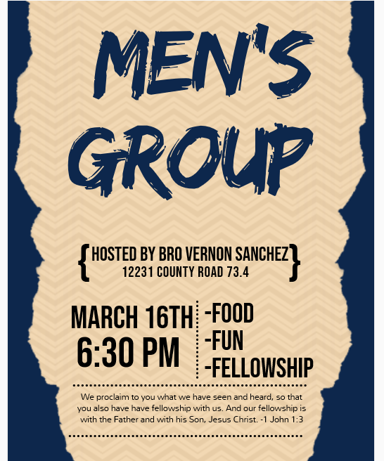March Men's Group