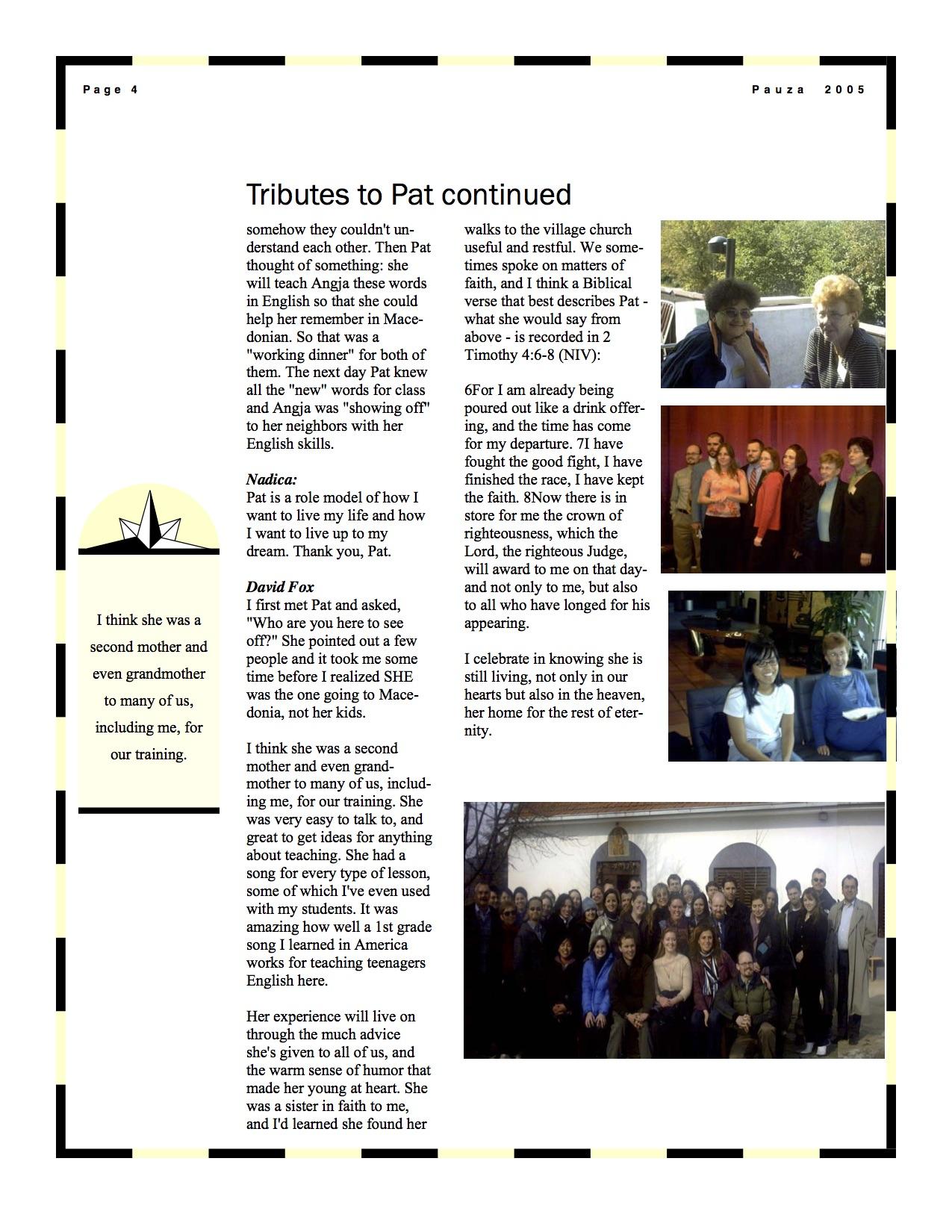 Patricia Scataloni Tributes page 3 | Fallen Peace Corps Volunteers