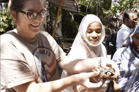 Soumaya and I got to play with a tortoise this week during my Junior Exploration Club. We went to a ylang ylang distillery in the northern part of Ngazidja. The children learned the process of making ylang ylang oil and they were able to plant their own ylang ylang! The children were happy and excited for this opportunity.