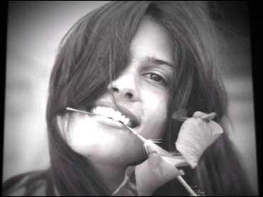 Deborah Gardner with flower