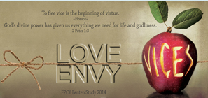 BLOG LENT -ENVY