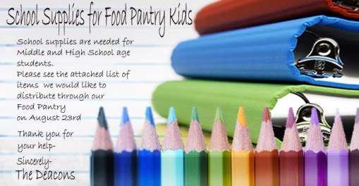 School Supplies 2014 for POST