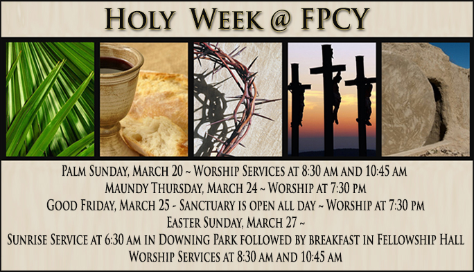 Holy Week  2016  POST Including Easter