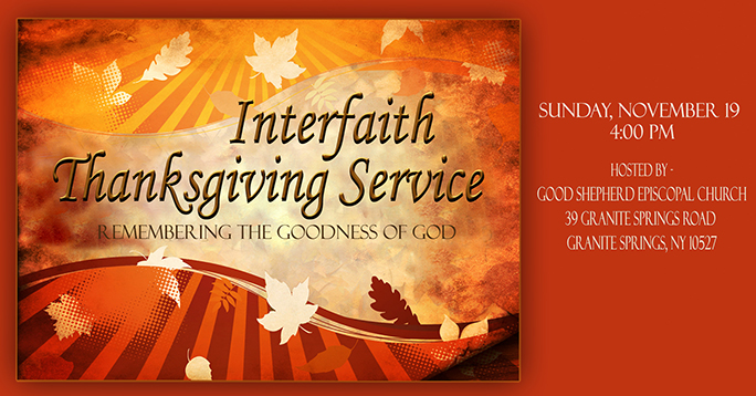 Interfaith Thanksgiving Service November 19 At Good