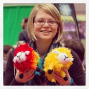 """Laura with indie game """"Color Sheep"""" for iOS"""