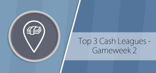 Top 3 Cash Leagues for gameweek 2