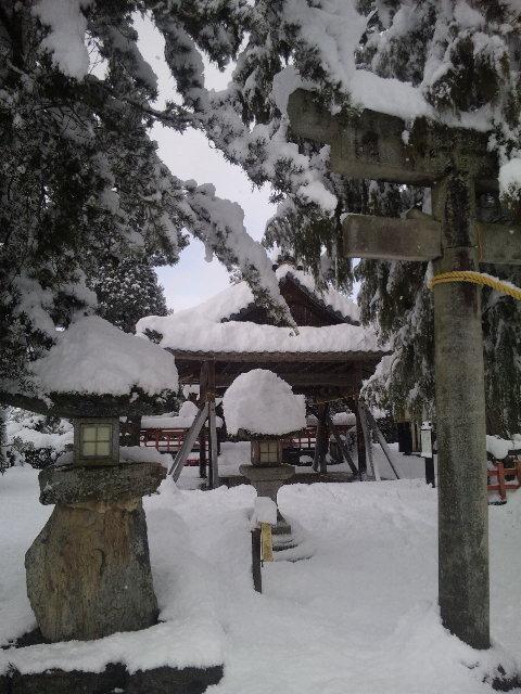 雪景色の梅田神社