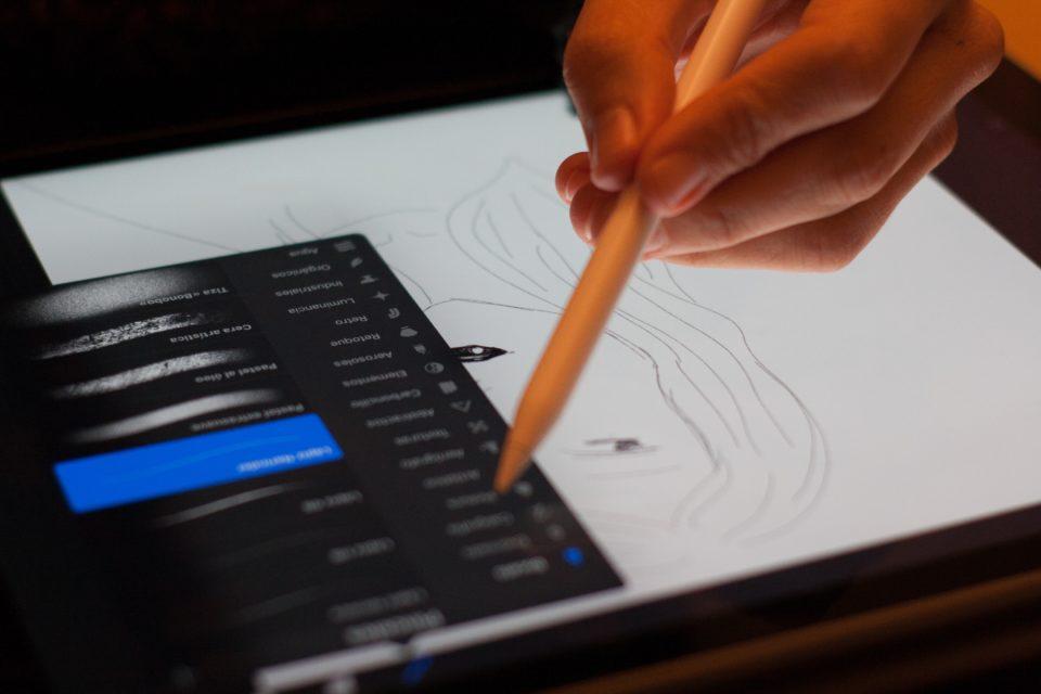 デジタルで絵を描く