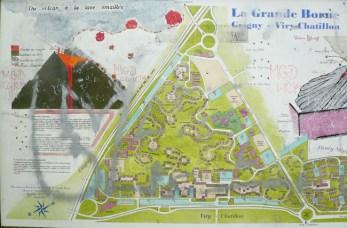plan de la grande Borne