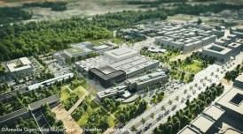 vue des futurs bâtiments de Centrale Supélec