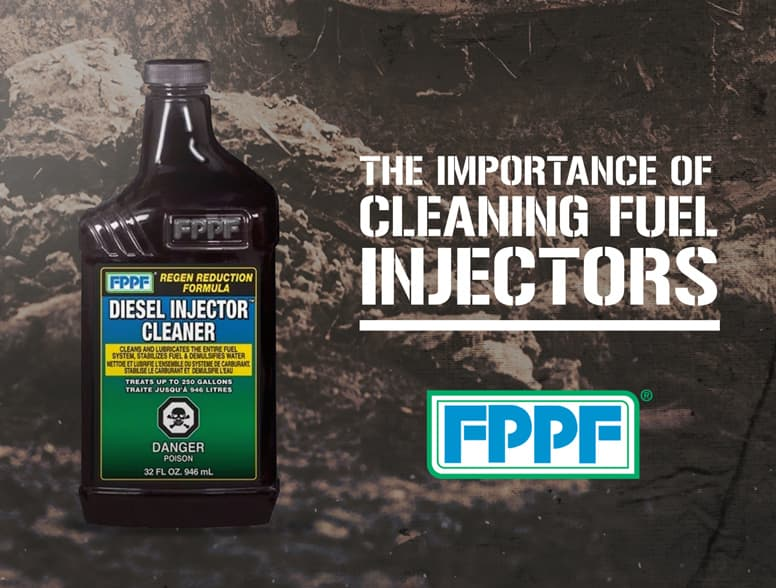 diesel injector cleaner bottle on dirty background