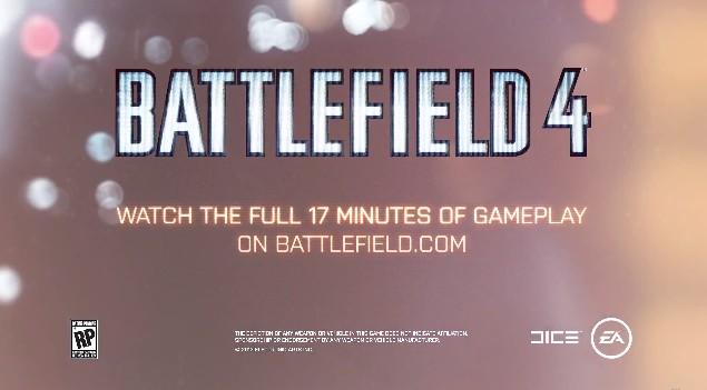 BATTLEFIELD 4:TVCM公開(60秒)