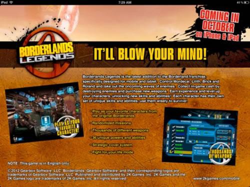 『Borderlands』ポータブル版、「Borderlands Legends」のリリースが決定!