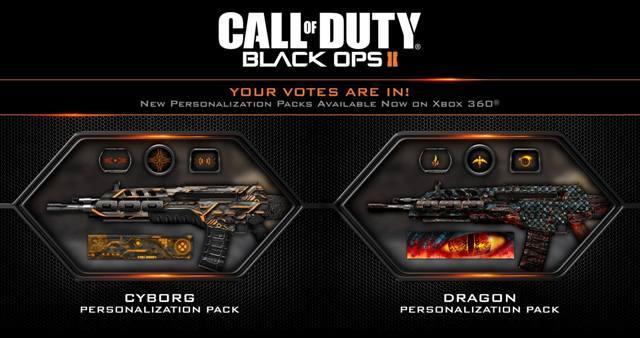 """CoD:BO2:PS3版DLC「パーソナライゼーションパック」配信開始。やはり人気は""""ドラゴン""""と""""サイボーグ"""""""