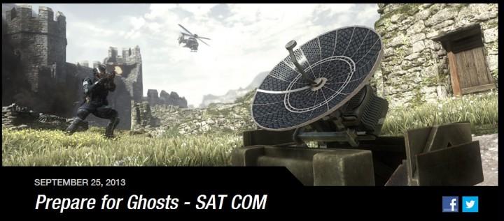 CoD:ゴースト:ゴースト版UAV「SAT COM」公式情報!4台設置で進行方向も表示
