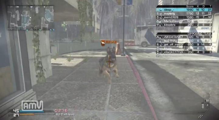 """『CoD: ゴースト』の""""犬""""は結構強い?「犬 vs 盾」動画"""