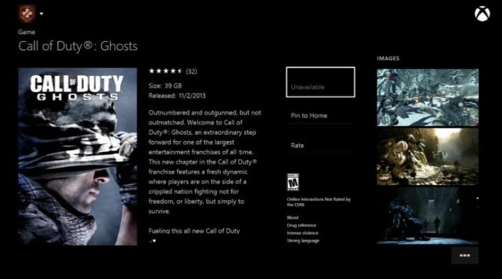 Xbox One:全ローンチタイトルのファイルサイズが判明。BF4 33GB、CoD:G 39GBなど