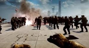 BATTLEFIELD 4:神々しささえ感じる、64人によるBase Jump動画