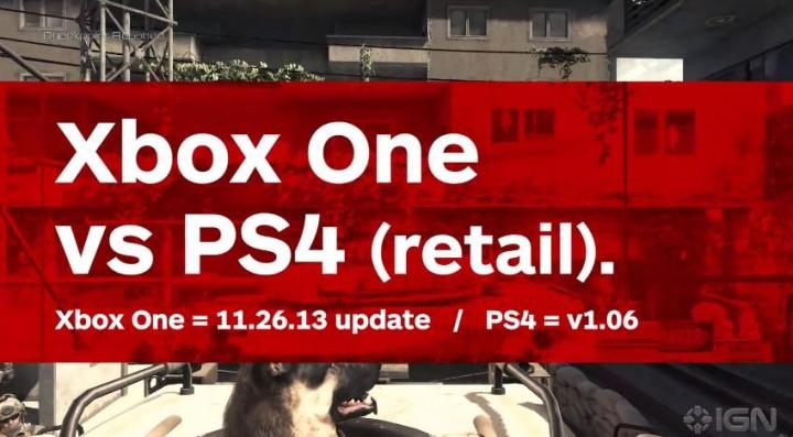 CoD: ゴースト:綺麗なのはどっち?PS4 vs Xbox One比較動画(最新版)