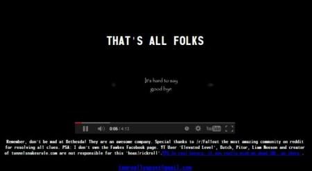 『Fallout 4』のティザーサイトはフェイク、「嫌いになるならBethesdaじゃなくて私を嫌って」