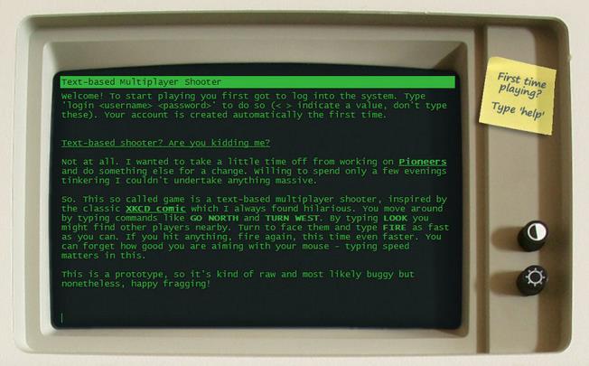 なんとテキストベースの新作マルチプレイシューターが登場