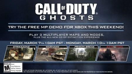 CoD ゴースト:Xbox Liveマルチプレイヤー無料体験を開催、38より