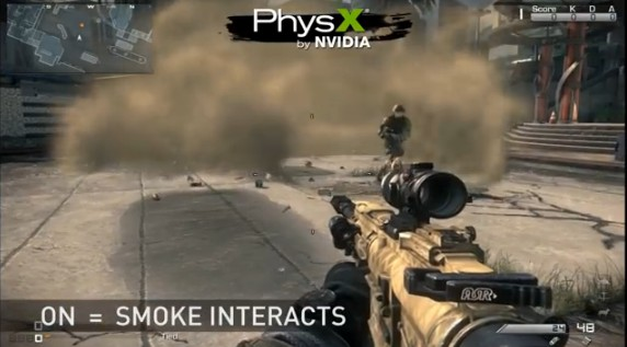 CoD:ゴースト:毛並みや煙が更にリアルになった、NVIDIA最新技術比較トレイラー