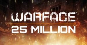 Warface登録者数が2500万人突破