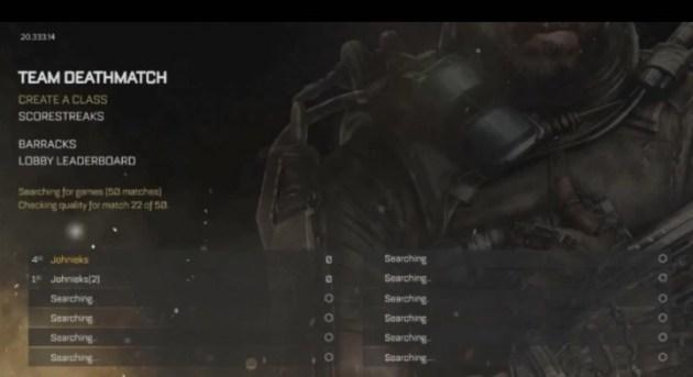 CoDAW:マルチプレイヤーのメニュー動画がリーク(自称)、ゲームモードは14種か?