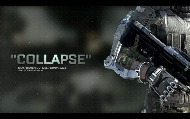 """CoD:AW : シングルプレイのステージ""""Collapse""""のプレイ動画を公開。迫力のカーチェイスと橋の上での攻防"""