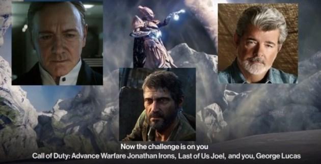 "Destiny:ゴーストが話題の""氷水かぶり""に挑戦、次の指名は『CoDAW』やジョージ・ルーカス!"