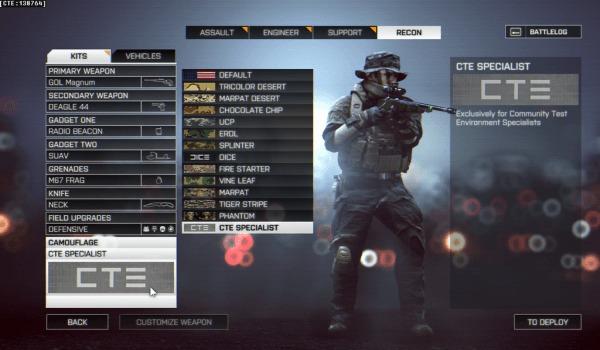 BF4:最新のCTE変更内容 (パッチ16)公開。大規模な武器バランス調整準備やグリッチ修正など