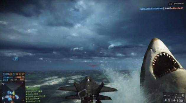BF4:怪物鮫メガロドンで敵機を破壊!