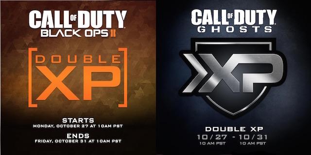 CoD:ゴーストとCoD:BO2で10月28日から11月1日までダブルXP開催