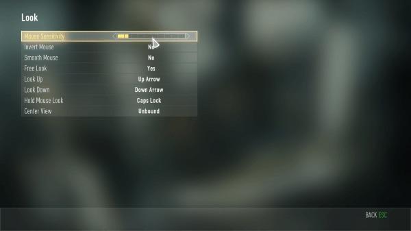 『Call of Duty: Advanced Warfare(コール オブ デューティ アドバンスド・ウォーフェア)』PC設定画面 05