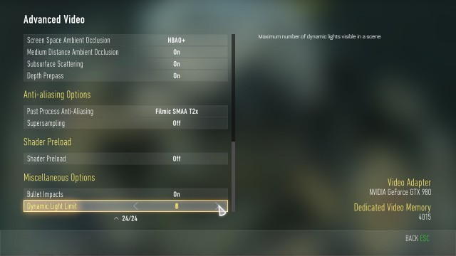『Call of Duty: Advanced Warfare(コール オブ デューティ アドバンスド・ウォーフェア)』PC設定画面 03