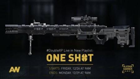 CoD:AW:スナイパーオンリーのプレイリスト「One Shot」公開。ダブルXPも