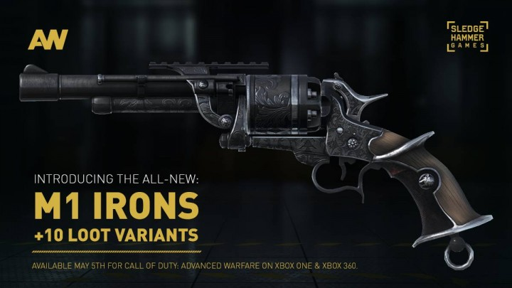 CoD:AW:新武器「M1 Irons」発表、全10種を近く無料配信