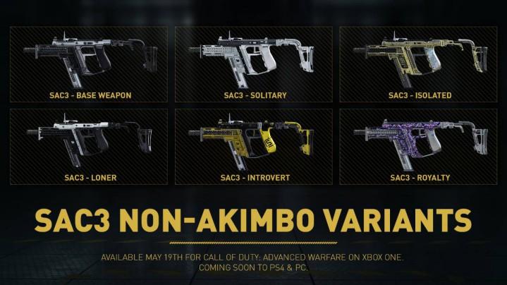 CoD:AW:新武器「シングル SAC 3」6種とロイヤリティ武器が正式発表