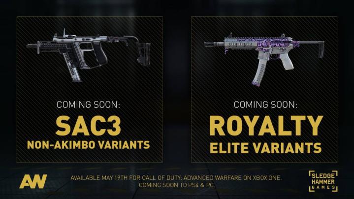 CoD:AW:新ロイヤリティ武器と非アキンボSAC 3、「ハードウェアの制限」でPS3/X360には配信なし