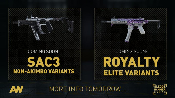 CoD:AW:噂の新武器が公式発表、非アキンボのSAC 3も登場