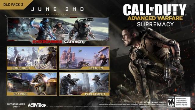 CoD:AW:第3弾DLCの新マップ「Compound」、先行プレイ動画が多数公開