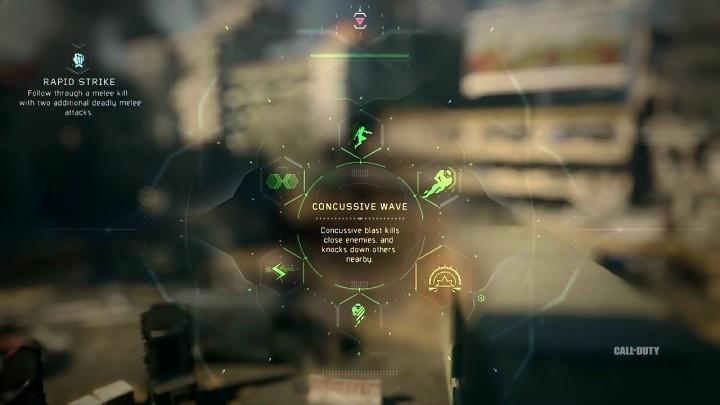 Concussive Wave:近くの敵をキルし、周りの敵をノックダウンさせるブラストを発生させる。