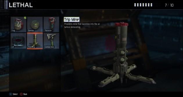 トリップマイン:近接すると起爆する地雷。爆発の前に空中に打ち上がる。