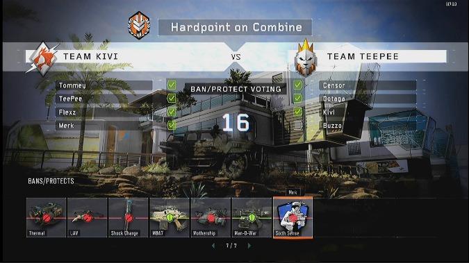 CoD:BO3:新機能「バン&プロテクト」詳細。試合の戦略性を増す重要機能