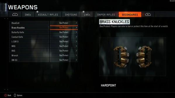 CoD:BO3:3種の新武器「バタフライナイフ」、「レンチ」、「ブラスナックル」が追加